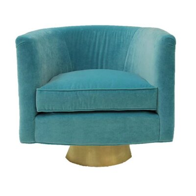Hollings Barrel Chair Upholstery: Turquoise
