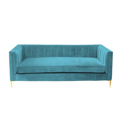 Deveraux Sofa Upholstery: Turquoise