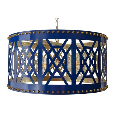 Dont Fret Drum Pendant Finish: Navy