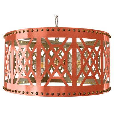 Dont Fret Drum Pendant Finish: Coral