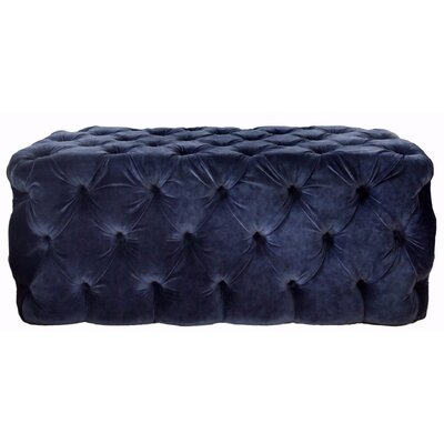 London Tufted Ottoman Upholstery: Navy