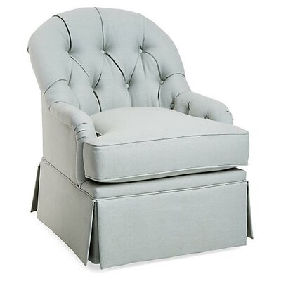 Chloe Swivel Armchair Upholstery: Light Gray
