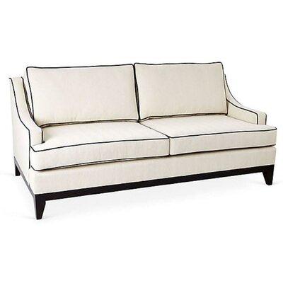 Dallas Sofa Upholstery: White/Emerald