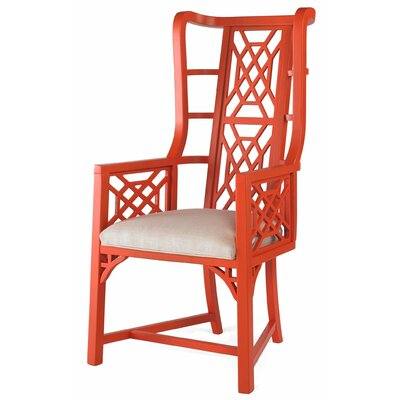 Grant Wingback Chair Finish: Red