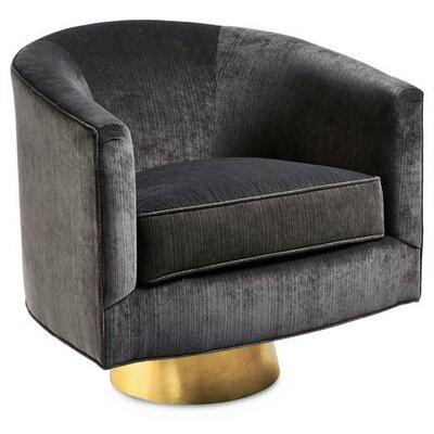 Hollings Barrel Chair Upholstery: Black