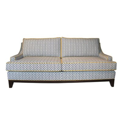 Dallas Sofa Upholstery: White/Navy