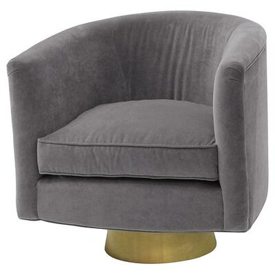 Hollings Barrel Chair Upholstery: Light Grey