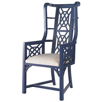 Grant Wingback Chair Finish: Navy