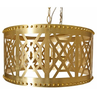 Dont Fret Drum Pendant Finish: Brass