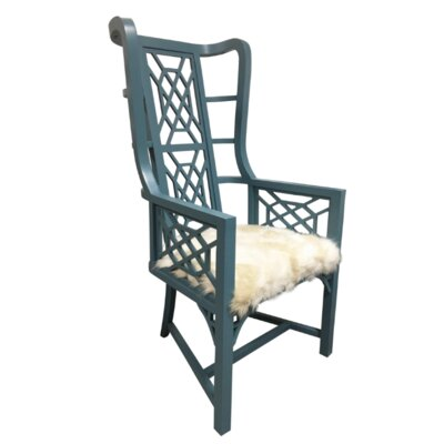 Teal Grant Wingback Chair