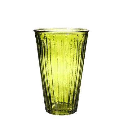Ribbed Glass Vase Color: Green VM16040002-3