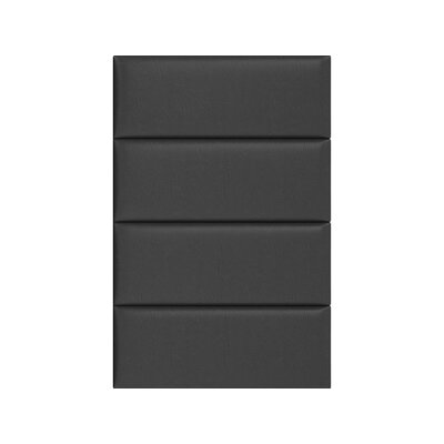 Upholstered Panel Headboard Upholstery: Black Coal, Size: 46 H x 30 W x 3 D