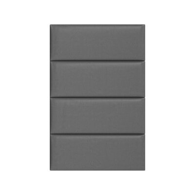 Upholstered Panel Headboard Upholstery: Gray Pewter, Size: 46 H x 30 W x 3 D