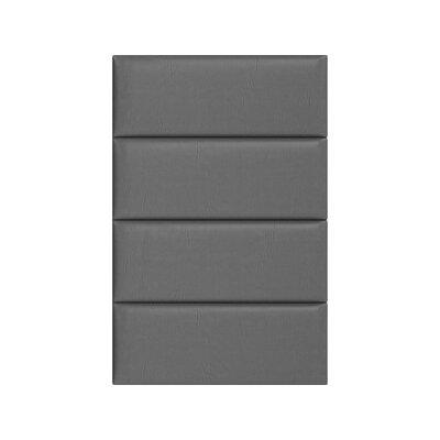 Bernardsville Upholstered Panel Headboard Upholstery: Gray Pewter, Size: 46 H x 30 W x 3 D
