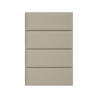 Upholstered Panel Headboard Upholstery: Dusty Taupe, Size: 46 H x 30 W x 3 D