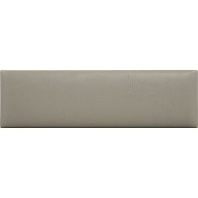 Upholstered Panel Headboard Upholstery: Dusty Taupe, Size: 46 H x 39 W x 3 D