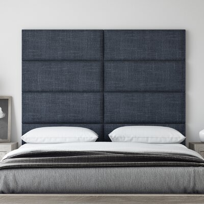 Upholstered Panel Headboard Upholstery: Midnight Blue, Size: 46 H x 30 W x 3 D