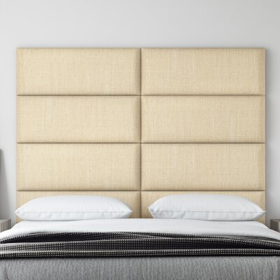 Upholstered Panel Headboard Upholstery: Toasted Wheat, Size: 46 H x 30 W x 3 D