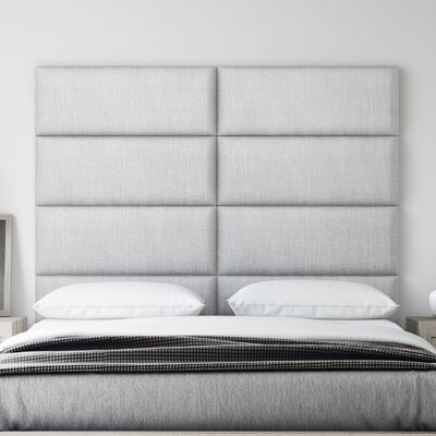 Upholstered Panel Headboard Upholstery: Gray Mist, Size: 46 H x 30 W x 3 D