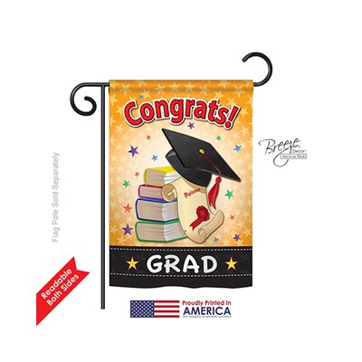 Congrats Grad 2-Sided Vertical Flag TG-SE-H-115064-IP-BO-DS02-US