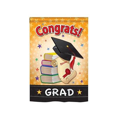 Congrats Grad 2-Sided Vertical Flag 65064