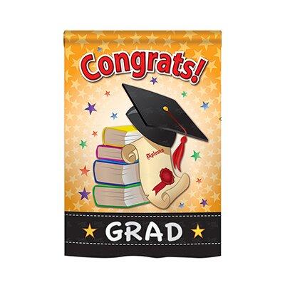 Congrats Grad 2-Sided Vertical Flag 15064
