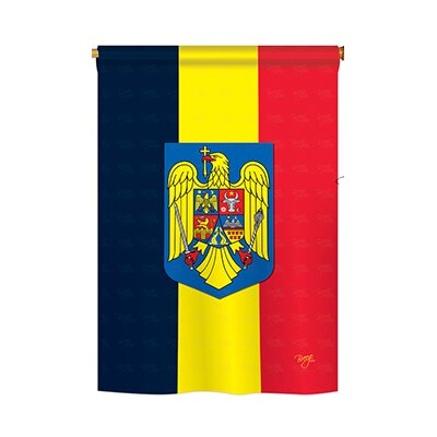 Romania 2-Sided Vertical Flag 8191
