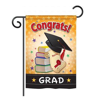 Congrats Grad 2-Sided Vertical Flag BD-SE-G-115064-IP-BO-DS02-US
