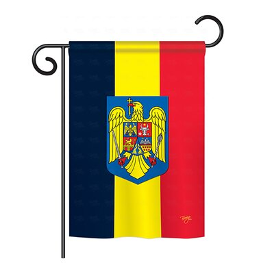 Romania 2-Sided Vertical Flag BD-CY-G-108191-IP-BO-DS02-US