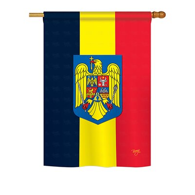 Romania 2-Sided Vertical Flag BD-CY-H-108191-IP-BO-DS02-US