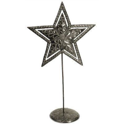 Double Star On Stand Sculpture