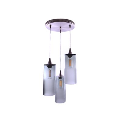 3-Light Cascade Pendant Finish: Gray