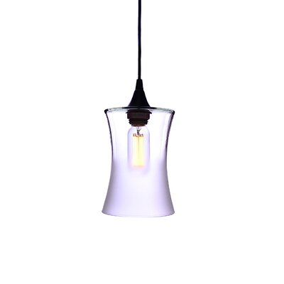 1-Light Mini Pendant Finish: Amber