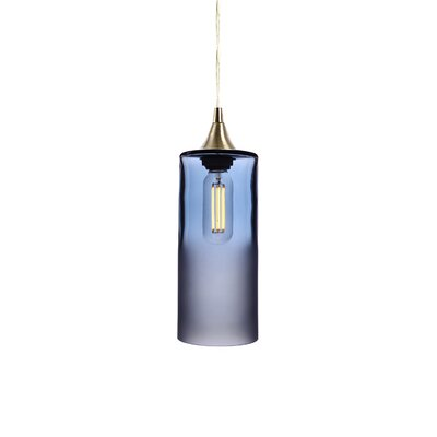 1-Light Mini Pendant Finish: Steel Blue