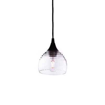 Lucent 1-Light Mini pendant Shade Color: Clear