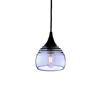 Lucent 1-Light Mini pendant Shade Color: Steel Blue