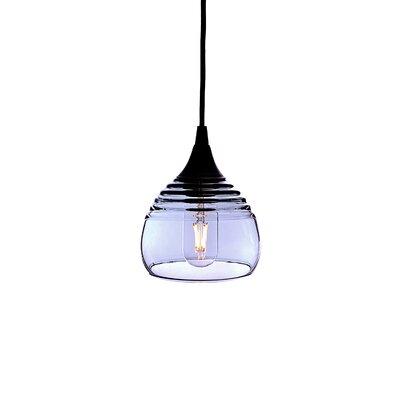 Lucent 1-Light Mini pendant Shade Color: Steel Blue