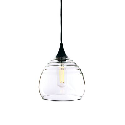 Segers 1-Light Mini Pendant Finish: Black, Shade Color: Clear
