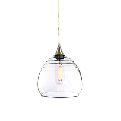 Segers 1-Light Mini Pendant Finish: Brushed Nickel, Shade Color: Clear