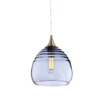 Segers 1-Light Mini Pendant Finish: Brushed Nickel, Shade Color: Steel Blue