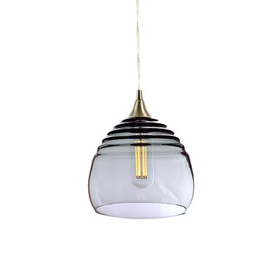 Segers 1-Light Mini Pendant Finish: Brushed Nickel, Shade Color: Gray