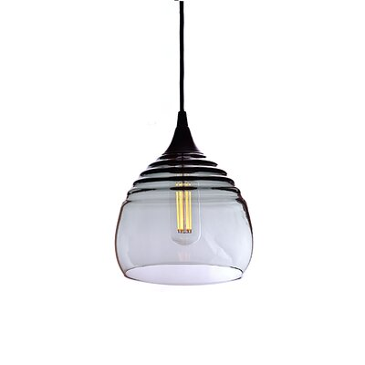 Segers 1-Light Mini Pendant Finish: Black, Shade Color: Gray