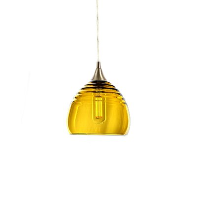 Segers 1-Light Mini Pendant Finish: Brushed Nickel, Shade Color: Amber