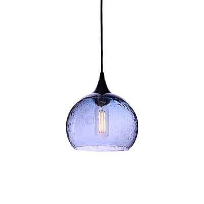 Wilcher 1-Light Mini Pendent Finish: Black
