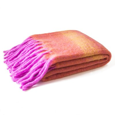 Mohair Throw Color: Spice/Sunshine/Fuchsia