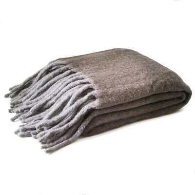 Mohair Throw Color: Charcoal/Gray
