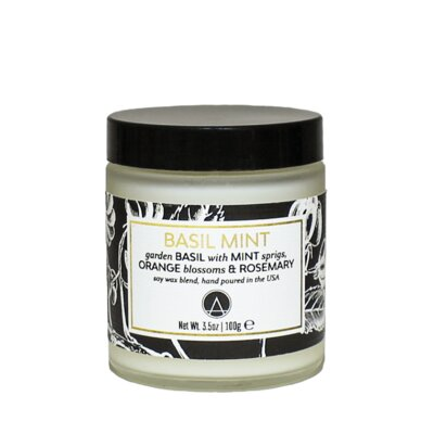 Aestheticcontent Basil Mint Scented Jar Candle
