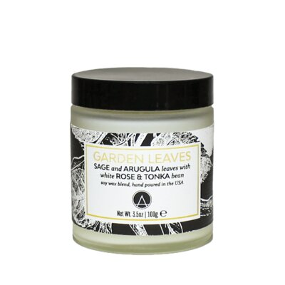 Aestheticcontent Garden Leaves Scented Soy Jar Candle