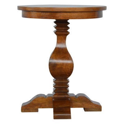Fontanes Round Pedestal Occasional End Table
