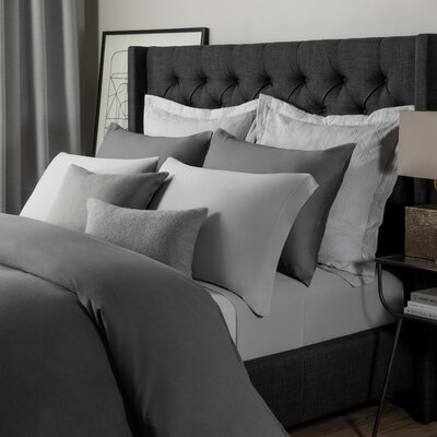 Solid Jersey Sheet Set Size: King, Color: Ash Gray